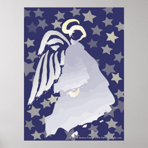 Impresión del ángel de la noche impresiones