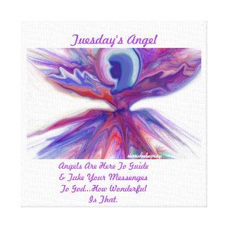 Impresión del ángel   de martes en lona envuelta impresion en lona