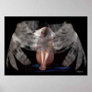 """Impresión del """"ángel que llora"""" póster"""