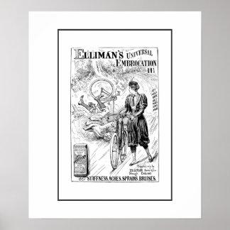 Impresión del anuncio de la bicicleta del vintage póster