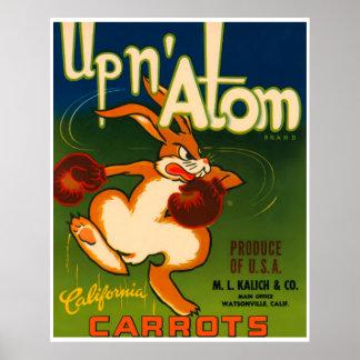 Impresión del anuncio de la comida de las zanahori impresiones