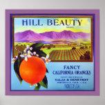 Impresión del anuncio de la fruta de los naranjas  poster