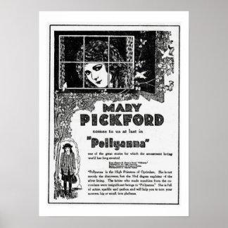 Impresión del anuncio de la película de Mary Pickf Posters