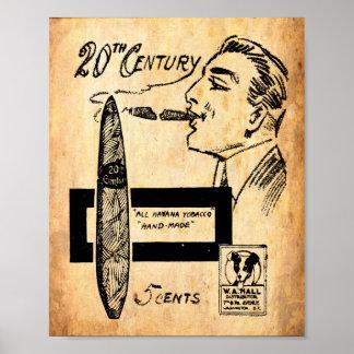 Impresión del anuncio del cigarro del vintage poster