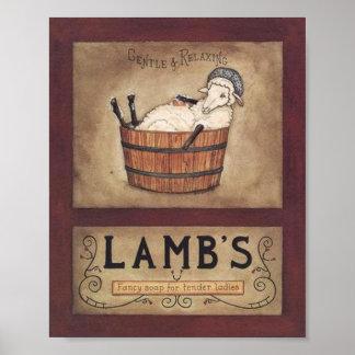 Impresión del anuncio del jabón del vintage póster
