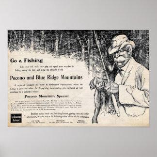 Impresión del anuncio del viaje del ferrocarril de posters