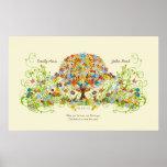 Impresión del árbol de la flor posters