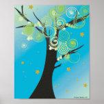 Impresión del árbol de Swirly Posters