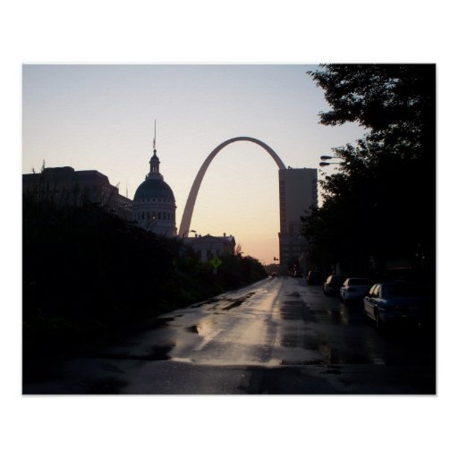 Impresión del arco de St. Louis Póster
