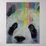 Impresión del arco iris de la panda póster