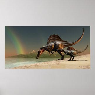 Impresión del arco iris de Spinosaurus