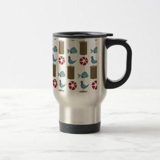 Impresión del área de embarque tazas de café