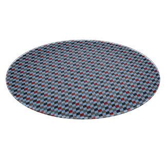impresión del argyle azul clara tabla de cortar