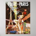impresión del art déco de París de los años 20 Poster