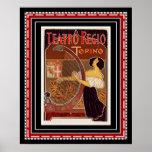 Impresión del art déco de Teatro Regio Torino del Póster