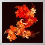 Impresión del arte abstracto de Firebirds del bail Posters
