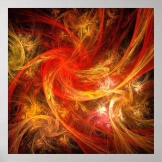 Impresión del arte abstracto de la tormenta de fue posters