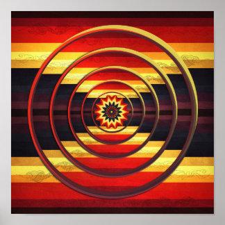 Impresión del arte abstracto de los círculos del póster