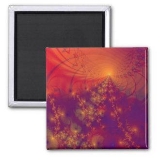 """Impresión del arte abstracto del ~ de la """"aurora b imán cuadrado"""