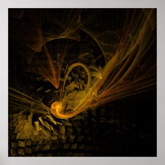 Impresión del arte abstracto del punto de póster