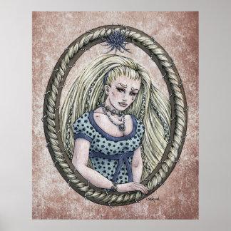 """Impresión del arte de 24x30 de """"Rapunzel"""" del cuen Posters"""