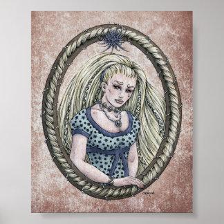 """Impresión del arte de 4x5 de """"Rapunzel"""" del cuento Impresiones"""