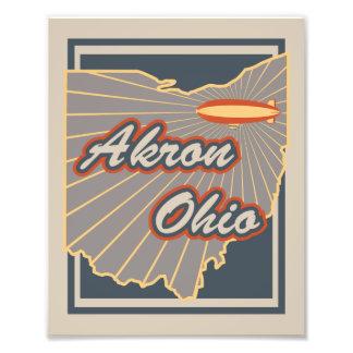 Impresión del arte de Akron, Ohio - ilustraciones Fotografías