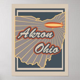 Impresión del arte de Akron, Ohio - poster v2 del