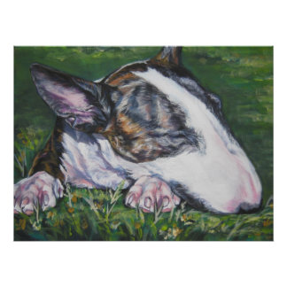 impresión del arte de bull terrier poster