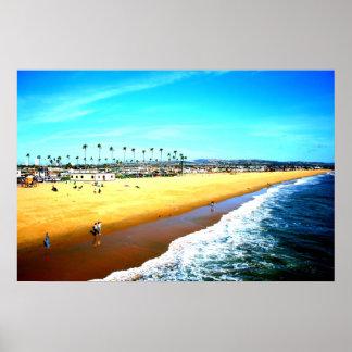 Impresión del arte de California de la playa de Ne Posters