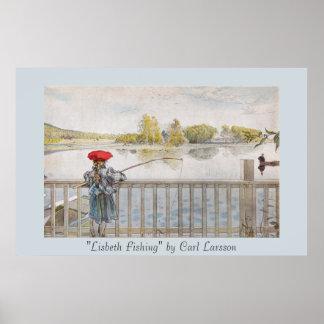 """""""Impresión del arte de Carl Larsson de la pesca de Poster"""