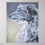 Impresión del arte de Deerhound del escocés Poster