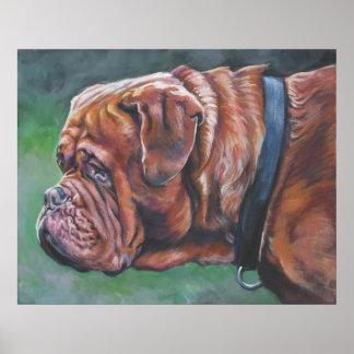 Impresión del arte de Dogue de bordeaux Póster