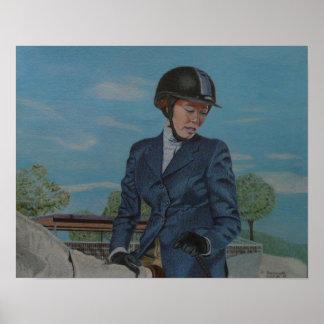 Impresión del arte de Horseshow Póster