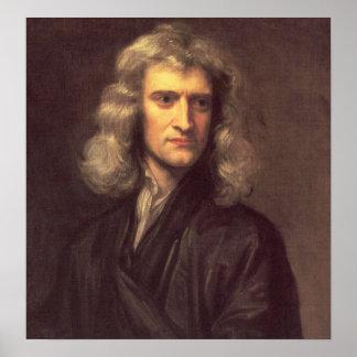 Impresión del arte de Isaac Newton