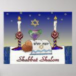Impresión del arte de Judaica Shabbat Shalom Poster