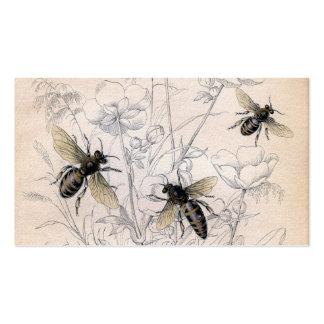 Impresión del arte de la abeja de la miel del vint tarjetas de visita