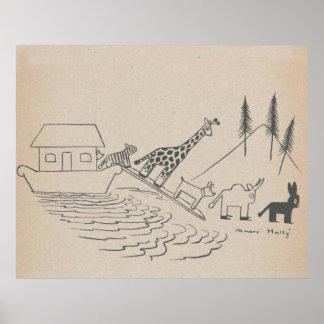 Impresión del arte de la arca de Noah Impresiones