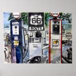 impresión del arte de la carretera de la ruta 66 posters