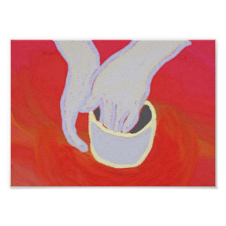 impresión del arte de la cerámica poster