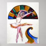 Impresión del arte de la danza del ballet por TJ C Posters