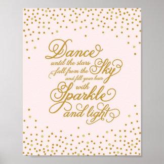 Impresión del arte de la danza el   póster