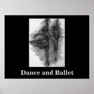 """Impresión del arte de la """"danza y del ballet"""" de póster"""