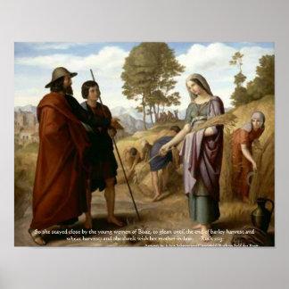 Impresión del arte de la escritura de Ruth y de la Impresiones