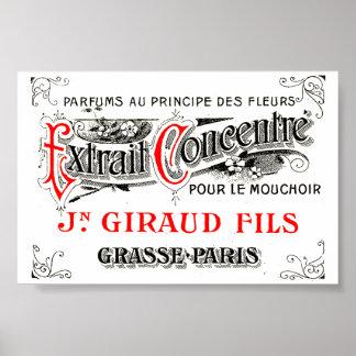 Impresión del arte de la etiqueta del francés mini impresiones