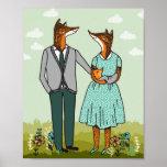 Impresión del arte de la familia del Fox Impresiones