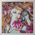 Impresión del arte de la fantasía de la diosa del  póster
