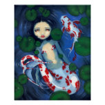 Impresión del arte de la fantasía de la sirena de  impresiones