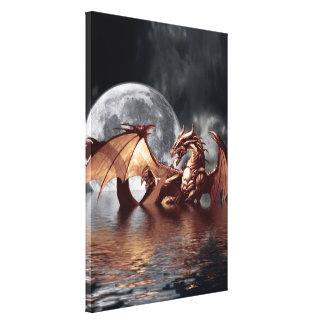 Impresión del arte de la fantasía del dragón y de  impresión en lona estirada