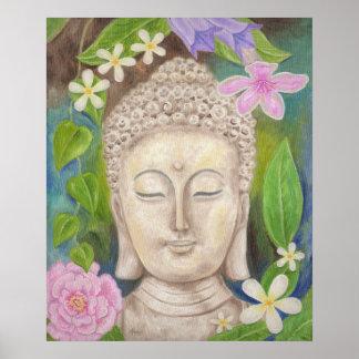 Impresión del arte de la flor de Buda Póster
